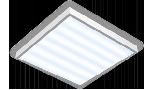 Светодиодный светильник 595х595х50мм для помещений с высокими потолками