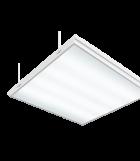 Светодиодный светильник 585х585х65 мм Грильято встраиваемый аварийный