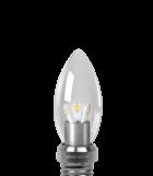 Светодиодная лампа gauss свеча прозрачная 3W