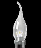 Диммируемая светодиодная лампа gauss свеча на ветру прозрачная  3W